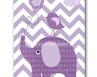Elephant Nursery Download Art Printable Nursery Print Baby Girl Nursery Decor Baby Art Digital Print Digital Art 8x10 11X14 INSTANT DOWNLOAD