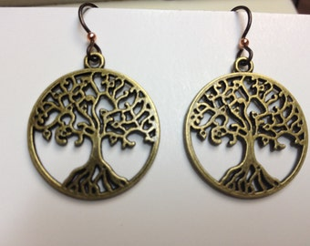 Hypoallergenic Niobium Tree of Life earrings