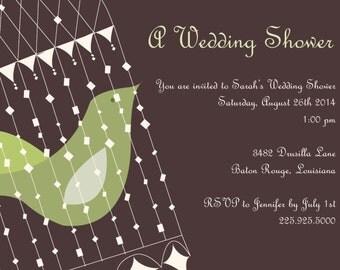 Bridal shower invitation bird