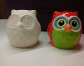 SALE  Was 8.00  Now 6.40 Ceramic Owl - DIY, Ready to Paint, Decor