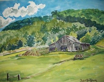 Kentucky Landscape with Old Barn