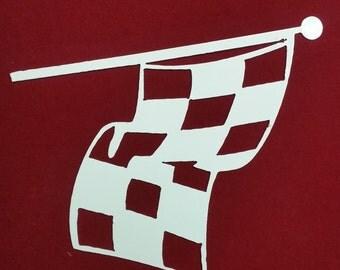 Metal Checkered Flag