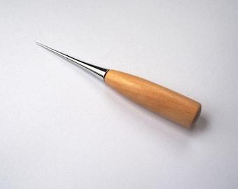 Awl, Bradawl, Needle Felting Awl, Needle Felting Tool, Wood Handle Awl, Wooden Awl - Doll Eyes Opener