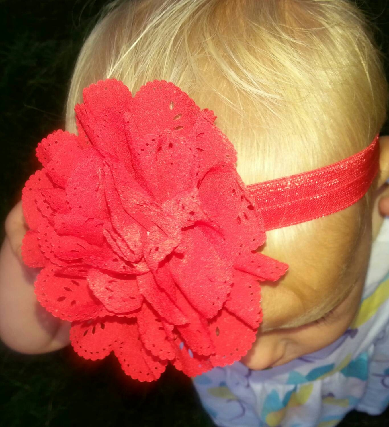 beautiful eyelet baby headband beautiful eyelet baby headband