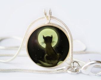 Black Cat Pendant  Black Cat necklace