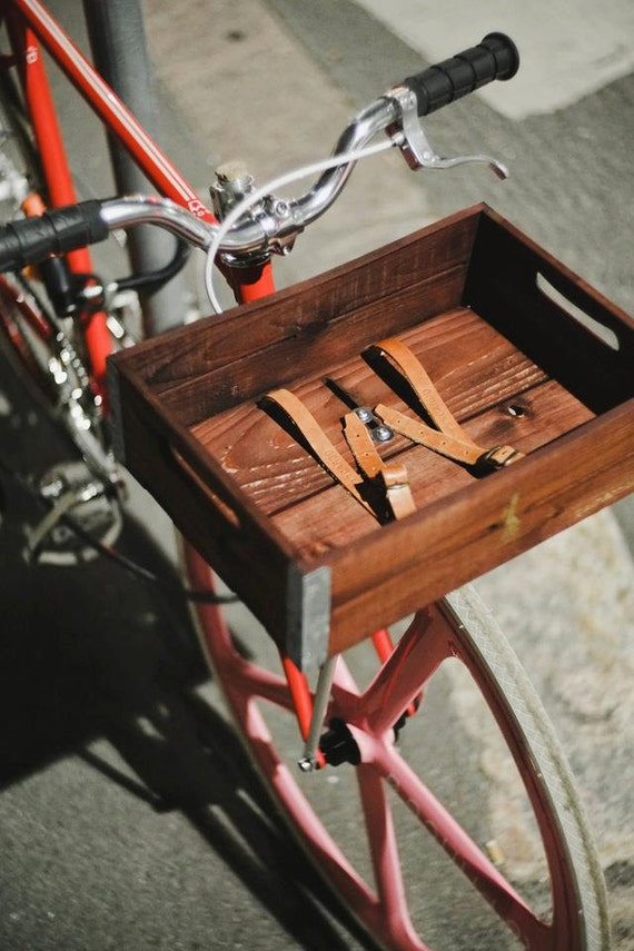Handmade Bicycle Baskets : Items similar to handmade wooden bicycle basket laurel in