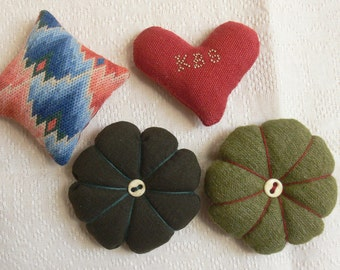 Pincushions for your 18th century workbasket