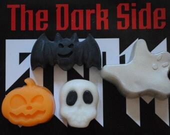 Halloween Ghost Soaps x 4 - Ghost, Bat, Pumpkin, Skull - Halloween, 31 October, All Saints Eve, Trick or Treat