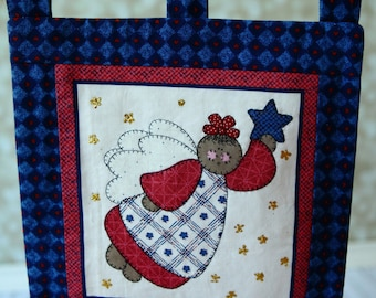 Christmas Quilt Wall Hanging ,  Angel Christmas Wall decor . Ready to ship.
