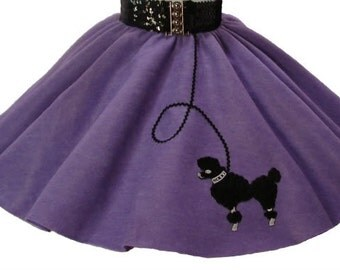 Lavender 50's POODLE SKIRT for BABY - 6 12 18 months