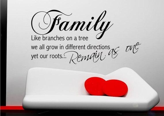 le radici della famiglia vita rami su un albero wall sticker - Stencil Camera Da Letto