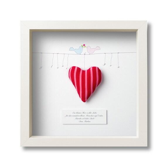 Geschenk zum valentinstag hochzeit oder aus liebe - Bilderrahmen personalisiert ...