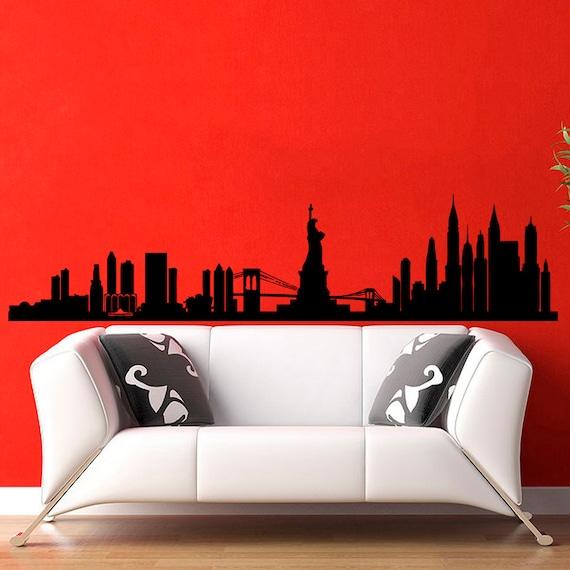 New York Skyline City Silhouette Wall Decal Vinyl Stickers