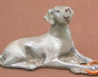 Weimeraner Dog Figurine