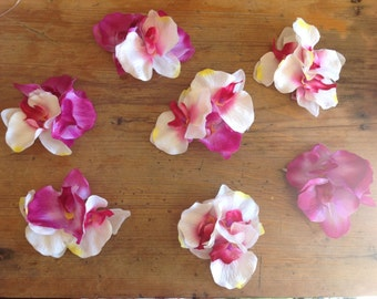 Orchid hair flowers