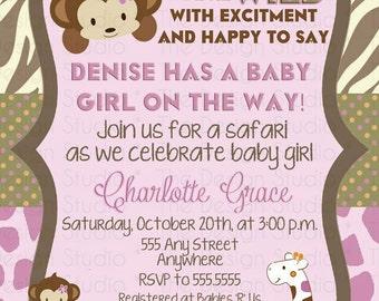Jacana Jungle Baby Shower Invitation