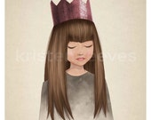 "8x10 ""Royal"" Children's Wall Art Print - Teenage Kids Girl Room Decor"