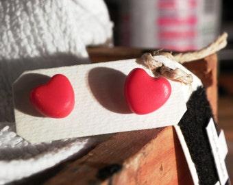 Orecchini da lobo in fimo / Earrings in polymer clay