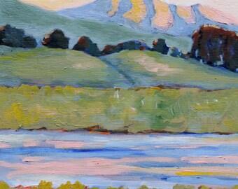 California Art Tomales Bay California / Original Oil Painting Print / Landscape Painting