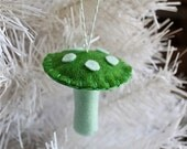 Green Felt Mushroom Ornament