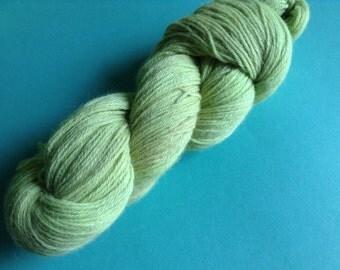 GREENAPPLE - 100% alpaca kettle dyed skein of DK knitting yarn (270 yards)- So soft!