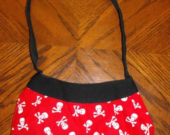 Red Skulls Print Small Buttercup Bag