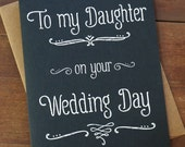 To My Daughter On Your Wedding Day - Wedding Day Card - Mother of the Bride Gift