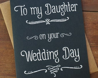 Special Gift From Mother To Daughter For Wedding : ... daughter on your wedding day wedding day card mother of the bride gift