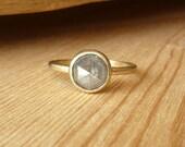 Rose Cut Diamond Ring with Slim Band - Deposit