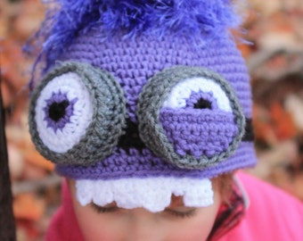 Crazy Purple Minion Hat