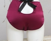 """VIOLET — The """"Peek-a-Boo"""" Panty — SILK SATIN — high-waist pinup knickers with cut-out in the back - available in plus sizes & custom sizes"""