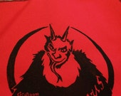 GRUSS VOM KRAMPUS Tote Bag weird christmas folk art limited edition hand printed original design Made in usa naughty kids punished by devil