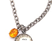 she's got sunshine in her soul small charm necklace