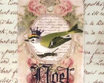 Christmas Gift Tags , Noel , Bird Tags , Christmas Tags , Holiday Hang Tags