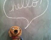 Mohair Dachshund artist puppy heirloom quality designer plush wiener dog