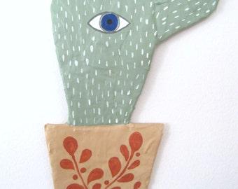 Cact-eye Papier Mache Wall Art