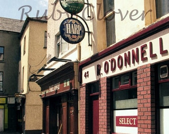 O'DONNELL'S PUB in Clonmel, Co. Tipperary IRELAND, Irish Bar Photo, Great Gift for Dad, Harp, Smithwick's, Ireland Street Scene Photography