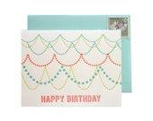 Birthday Garland Letterpress card