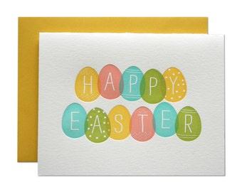 Happy Easter Letterpress Card