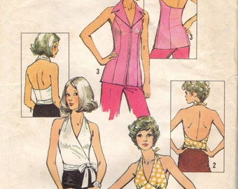 Simplicity 5414 Set of Halter Tops - 1972