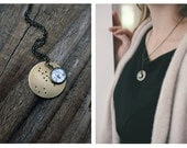 Zodiac Constellation Necklace Pendant - Silver or Gold - Custom Astrological Star Sign with Constellation, Virgo, Libra, Scorpio Birthday