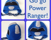 Power Ranger Hat/Beanie - Any Size & Color Available