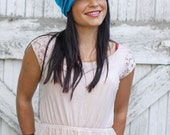 Slouch Hat - Tropical blue - Merino