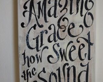 Amazing Grace Original Painted Canvas