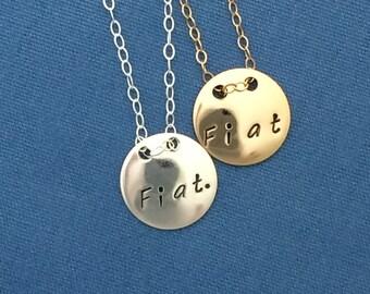 FIAT Necklace sterling silver or 14K goldfilled