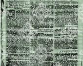 Digital Download London Chronicle Newspaper, Antique Illustration, Vintage drawing, UK, British England, English, digi stamp