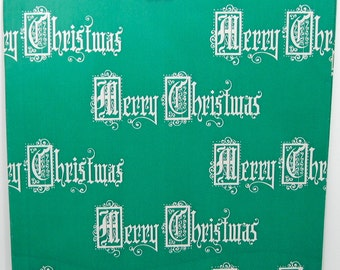 Vintage Christmas Gift Wrap - Vintage Christmas Wrapping Paper - Holiday - Medieval Merry Christmas