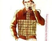 Mens sweater cardigan vintage sewing pattern Kwik Sew 616 Size Small to XL UNCUT Retro mens style