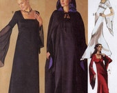 Wedding gown pattern with cape or evening gown gothic style sewing pattern McCalls 2810 Gothic costume sewing pattern Sz 16 to 20