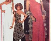 1970s One Shoulder Dress or Tunic with Pallazzo Pants  McCalls 5371 Vintage 70s American Hustle Sewing Pattern Size 14-16 Bust 36-38 UNCUT